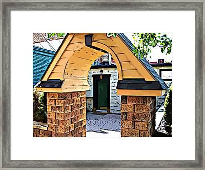 Out The Back Door Framed Print by MJ Olsen