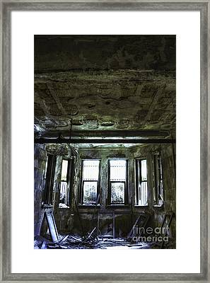 Out The Basement Window Framed Print