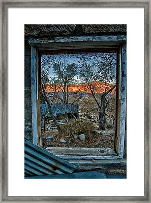 Out The Window Framed Print by Cat Connor