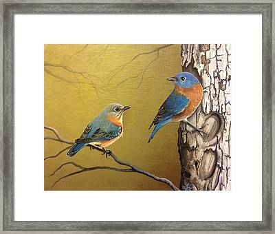 Out To Lunch Framed Print by Laura Parrish