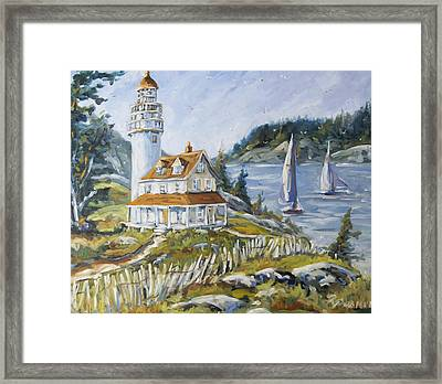 Out To Sea By Prankearts Framed Print