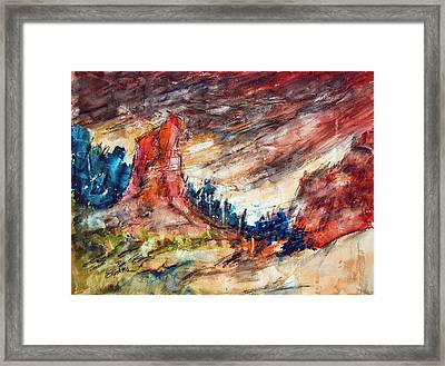 Out West Framed Print by Ron Stephens