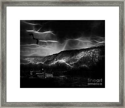 Out World Mining Framed Print