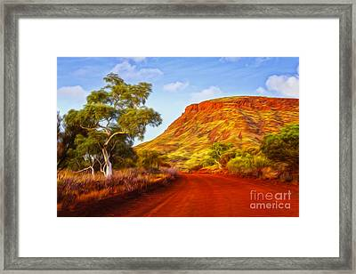Outback Road Australia Framed Print by Colin and Linda McKie