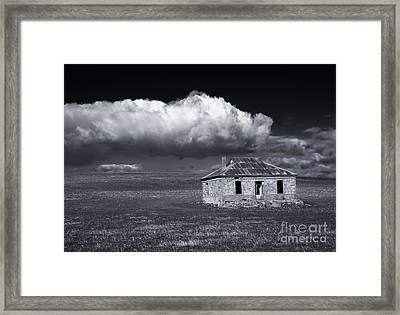 Outback Ruin Framed Print by Mike  Dawson