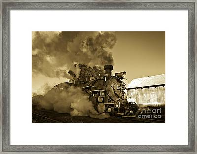 Angry Iron Horse Framed Print