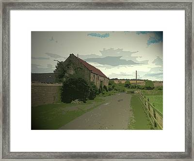 Outbuilding At Firsby Hall Farm,  Outbuilding At Firsby Framed Print by Litz Collection