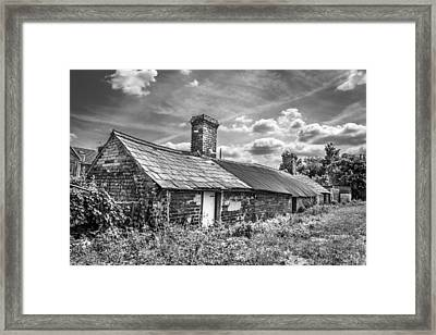 Framed Print featuring the photograph Outbuildings. by Gary Gillette