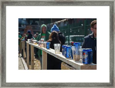 Outdoor Bar Framed Print by Jim West