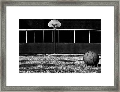 Outdoor Basketball Court Framed Print