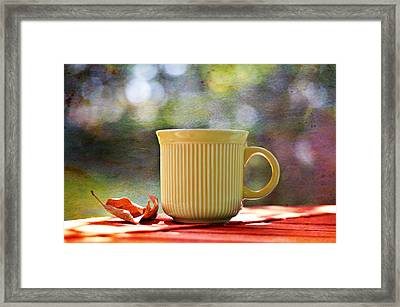 Outdoor Cafe Framed Print by Laura Fasulo