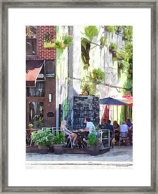 Outdoor Cafe Philadelphia Pa Framed Print
