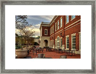 Outdoor Dining At The Courtyard Dining Hall Of Wcu Framed Print