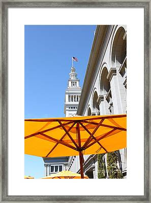 Outdoor Dining At The San Francisco Ferry Building 5d25378 Framed Print