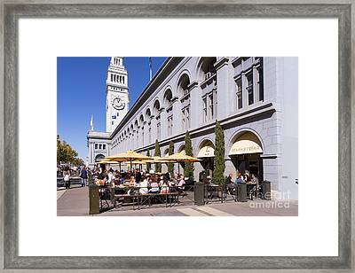 Outdoor Dining At The San Francisco Ferry Building Dsc1775 Framed Print