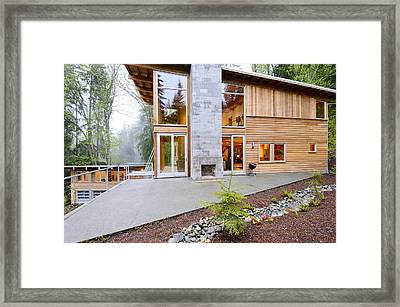Outdoor Fireplace Framed Print by Will Austin