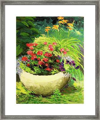 Outdoor Flower Pot  Framed Print