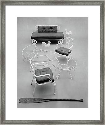 Outdoor Furniture Made Out Of Cast Aluminum Framed Print