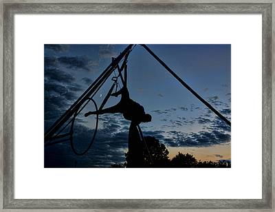 Outdoor Gymnast Framed Print