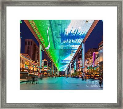 Outdoor Lcd Screen In Beijing China Framed Print