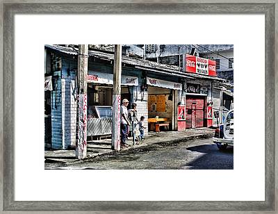 Outdoor Mexican Cafe Framed Print by Linda Phelps