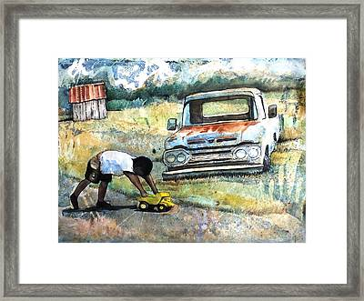 Outdoor Play'n Trucks Framed Print by Ron Carson