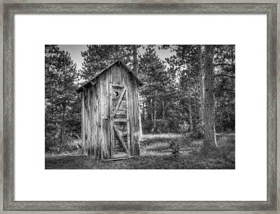 Outdoor Plumbing Framed Print by Scott Norris