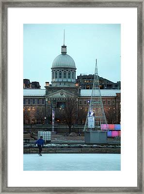 Outdoor Skating Framed Print by Munir Alawi