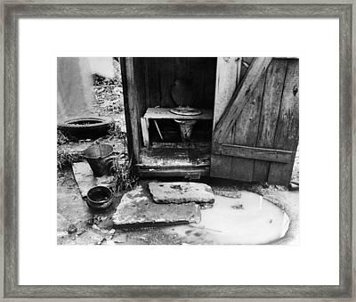 Outdoor Toilet, 1935 Framed Print by Granger