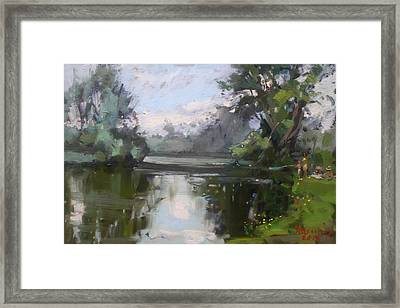 Outdoors At Hyde Park Framed Print by Ylli Haruni