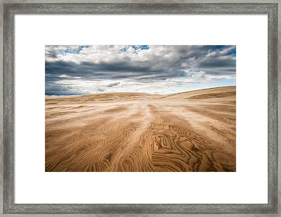Outer Banks Jockeys Ridge State Park - Swept Away Framed Print by Dave Allen
