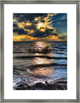 Outer Banks - Radical Sunset On Pamlico Framed Print by Dan Carmichael