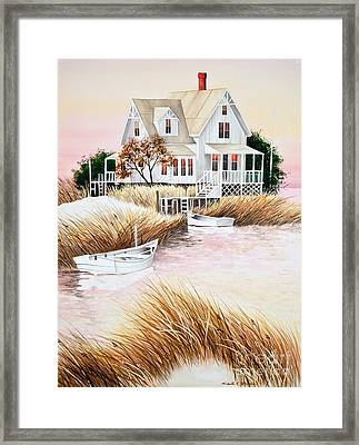 Outer Banks Summer Morning Framed Print by Michelle Wiarda