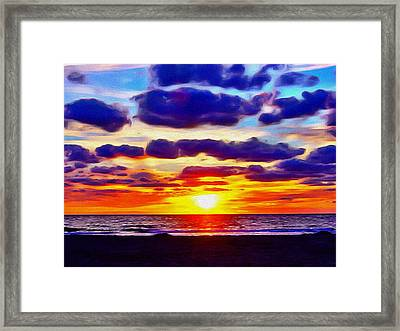 Outer Banks Sunrise Framed Print