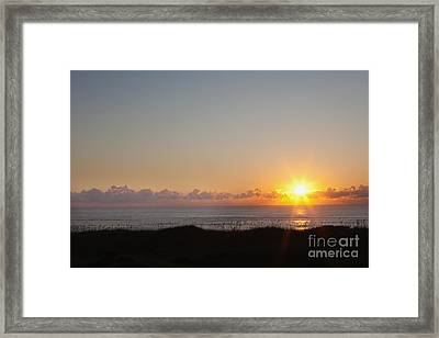 Outer Banks Sunrise Framed Print by Kay Pickens