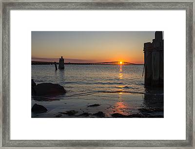 Framed Print featuring the photograph Outer Banks Sunset by Gregg Southard