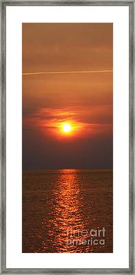Framed Print featuring the photograph Outer Banks Sunset by Tony Cooper