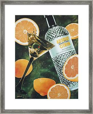 Outer Citron Framed Print