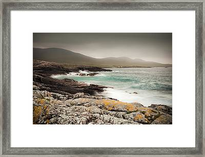Outer Hebrides Waves Framed Print by Ray Devlin