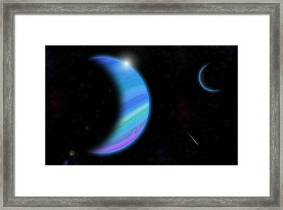Outer Space Dance Digital Painting Framed Print