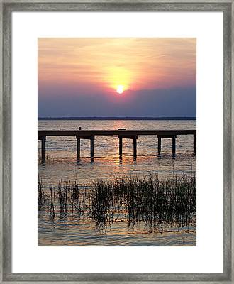 Framed Print featuring the photograph Outerbanks Nc Sunset by Sandi OReilly