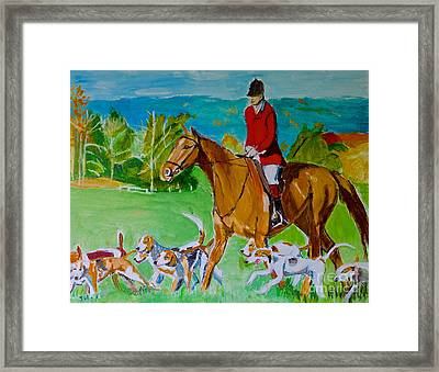 Outfoxed Framed Print by Judy Kay