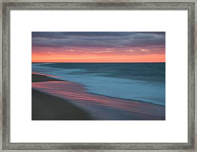 Outgoing Surf Framed Print