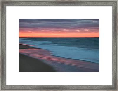 Outgoing Surf Framed Print