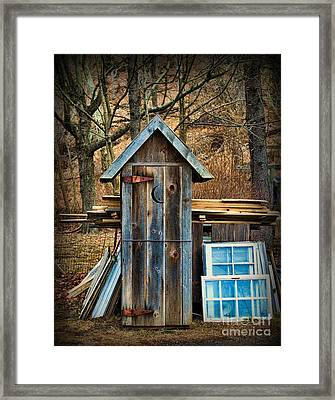 Outhouse - 5 Framed Print by Paul Ward