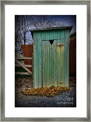 Outhouse - 6 Framed Print by Paul Ward