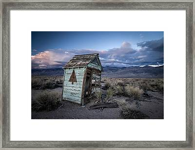 Outhouse Framed Print by Cat Connor