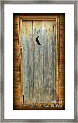 Outhouse Door Framed Print by John Malone & Outhouse Door Photograph by John Malone Pezcame.Com