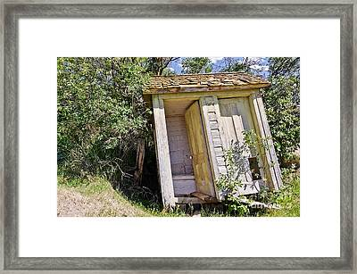 Framed Print featuring the photograph Outhouse For Two by Sue Smith
