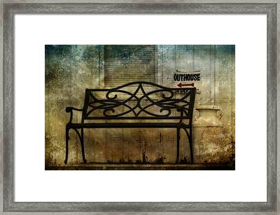 Outhouse-in Back Framed Print by David Simons